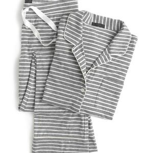 J. Crew striped cotton pajamas